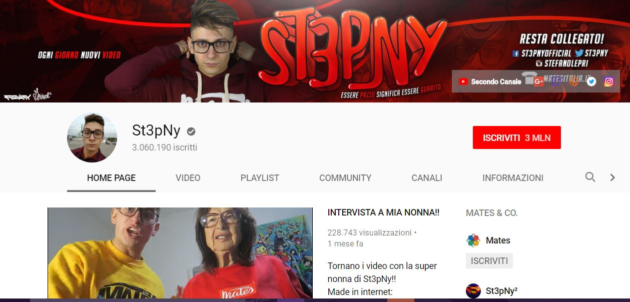 canale youtube stepny